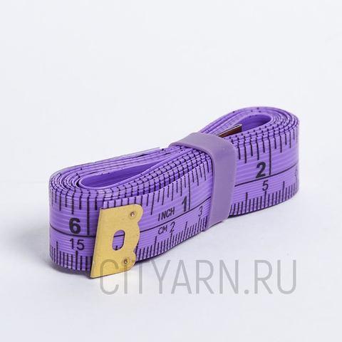 Сантиметровая лента 150см/60 дюймов, ярко-сиреневая