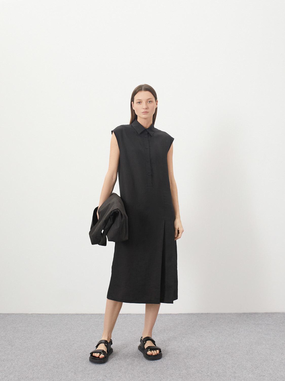 Платье-рубашка Nika со складками
