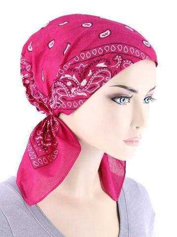 Темно-розовая бандана косынка фото