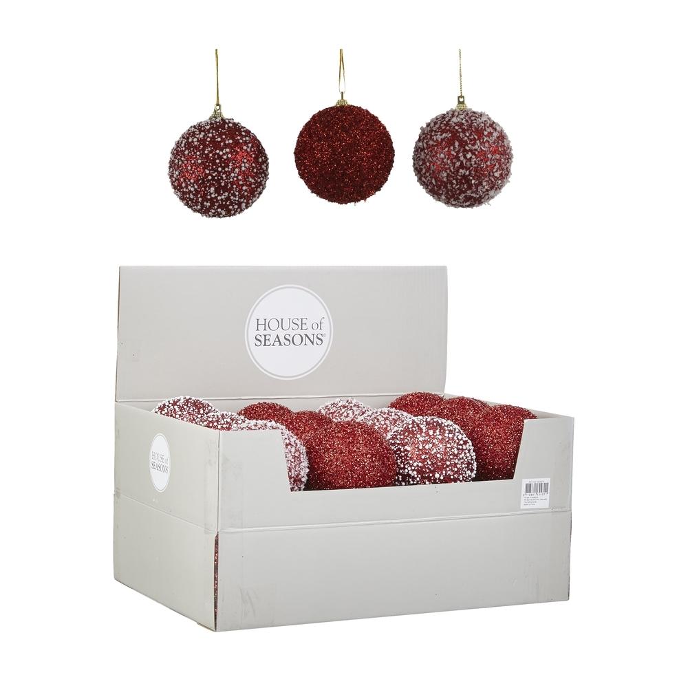 Елочные игрушки Набор шаров 24шт 8см House of Seasons красный 3 вида в ассортименте 8ipyhophjdhjbyjypcmu0yo60sojsxjv.JPEG