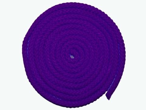 Скакалка гимнастическая, цветная ткань. Длина 3 метра. Цвет фиолетовый. :(АВ251):