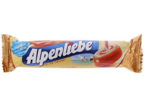 Карамельные конфеты Alpenliebe caramel 32 гр