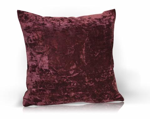 Подушка декоративная Бархат бордовый