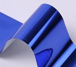 Фольга для дизайна ногтей (темно синяя)