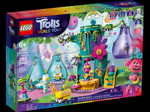 LEGO Trolls: Праздник в Поп-сити 41255 — Pop Village Celebration — Лего Троллз Тролли