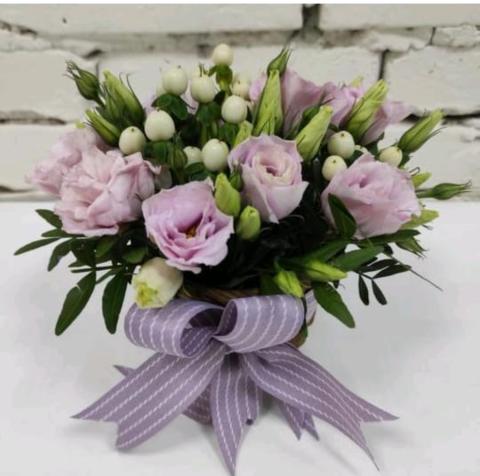 Композиция живые цветы №14