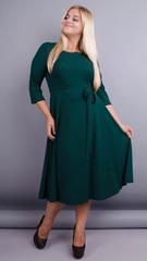 Кора. Элегантное платье плюс сайз. Изумруд.
