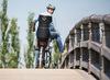 Велокресло Bobike Exclusive Tour + Led Frame-Carrier система крепления 2 в 1. Цвет: Urban black