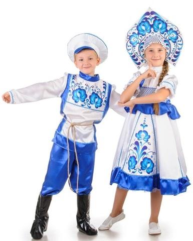 Русский народный костюм Гжель девочка 4