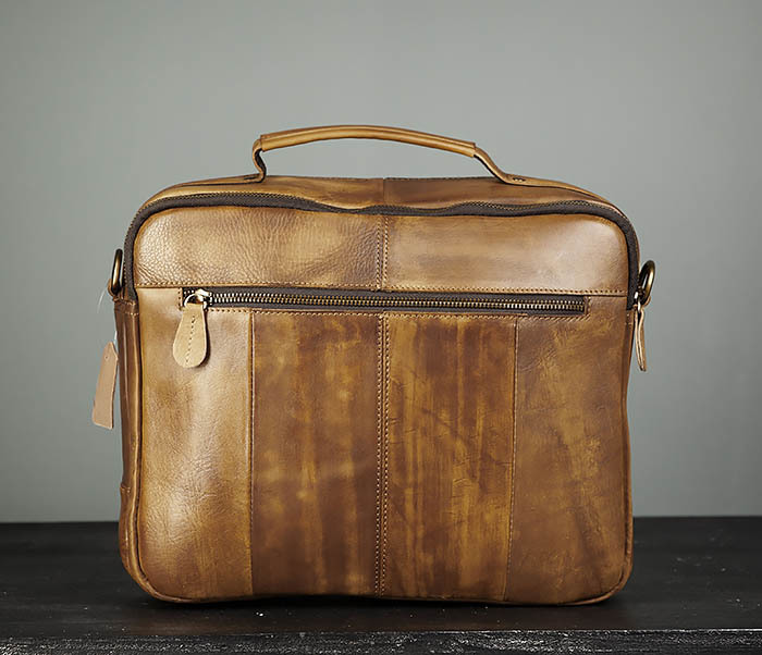 BAG469-2 Мужская винтажная сумка с ремнем через плечо фото 06