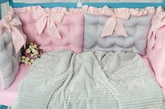 Комплект постельного белья для новорождённых Бусинка 10-01 Розовый