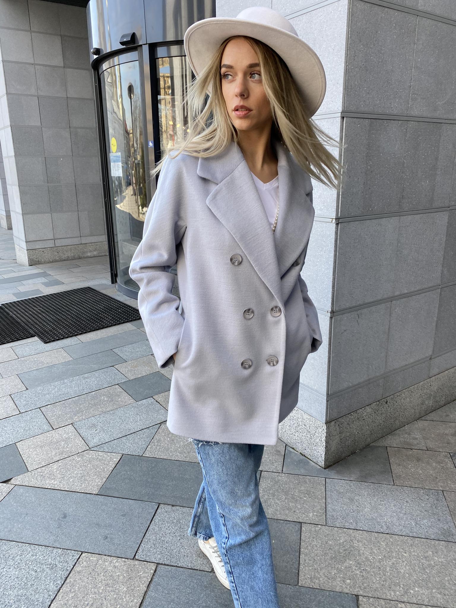Пальто пиджак, в цвете туман