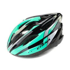 Велошлем Cigna WT-040 (чёрный/зелёный/серебристый)