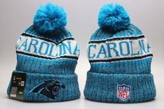 Шерстяная вязаная шапка НФЛ Каролина Пэнтерс ( NFL Carolina Panthers) с помпоном