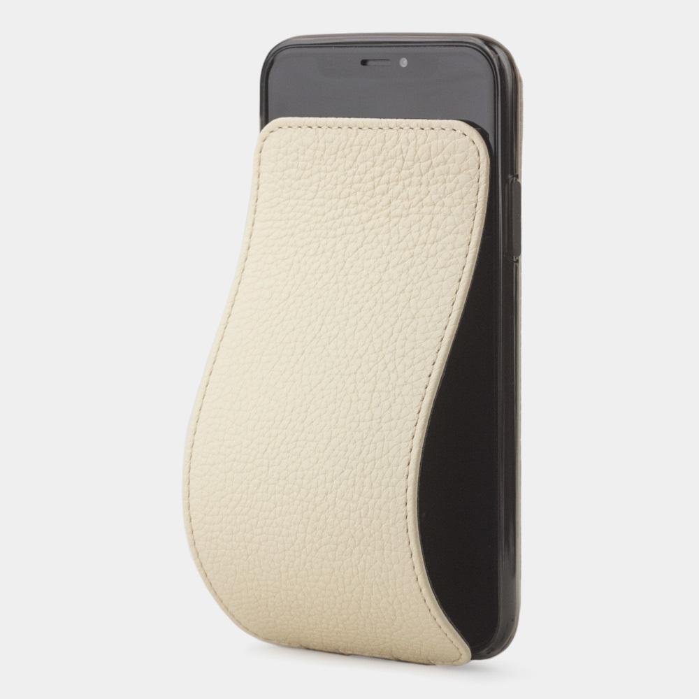 Чехол для iPhone X/XS из натуральной кожи теленка, молочного цвета