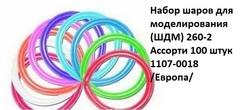 Воздуш. шары 1107-0018 ассорти (100 шт.)
