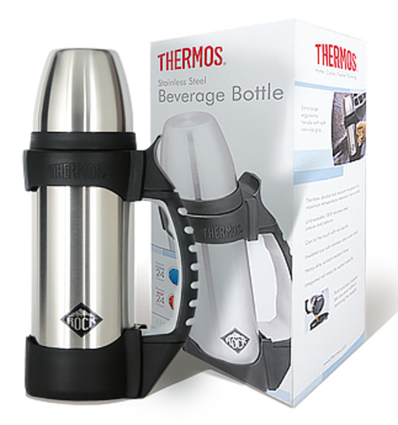 Термос Thermos The Rock 2510-R (1 литр), серебристый