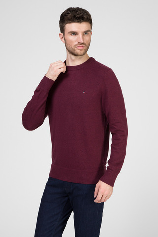 Мужской бордовый джемпер PIMA COTTON CASHMERE CREW NECK Tommy Hilfiger