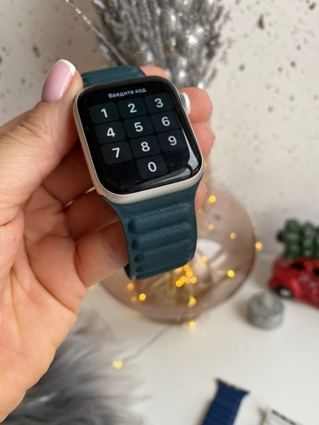 Ремешок Apple Watch 42/44 mm Leather Link /forest green/