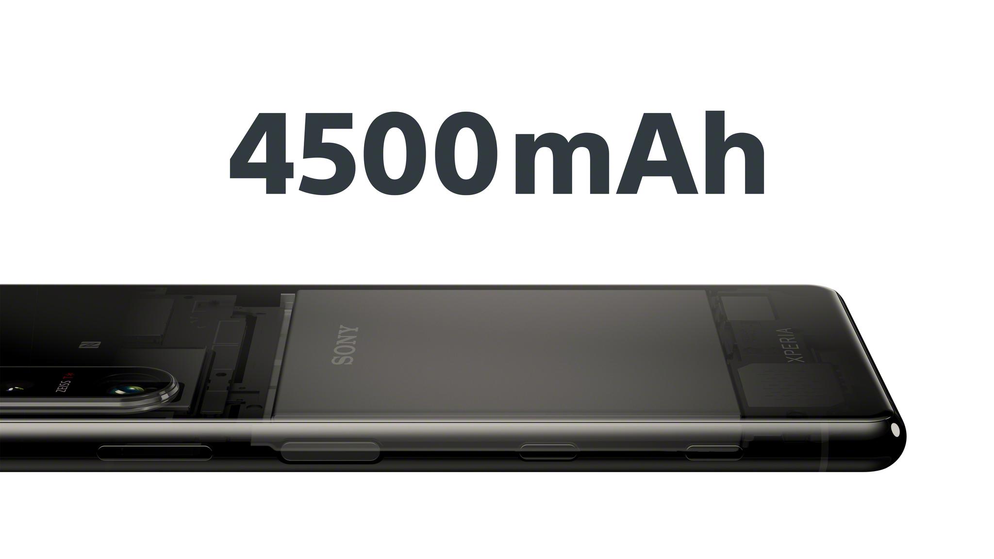 Компактный смартфон Xperia 5 III чёрного цвета с аккумулятором 4500 мАч