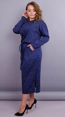 Леся. Оригинальное платье для пышных дам. Синий.