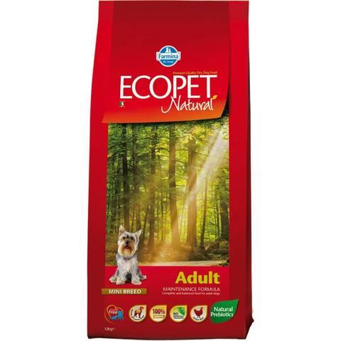 Farmina Ecopet Natural Adult Mini Сухой корм для взрослых собак мелких пород с курицей
