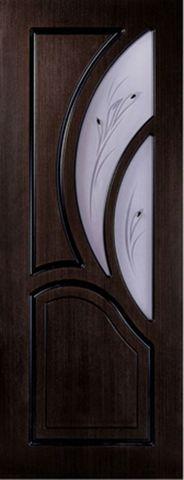 Дверь Карелия-2 ДО (дуб мореный, остекленная шпонированная), фабрика Румакс