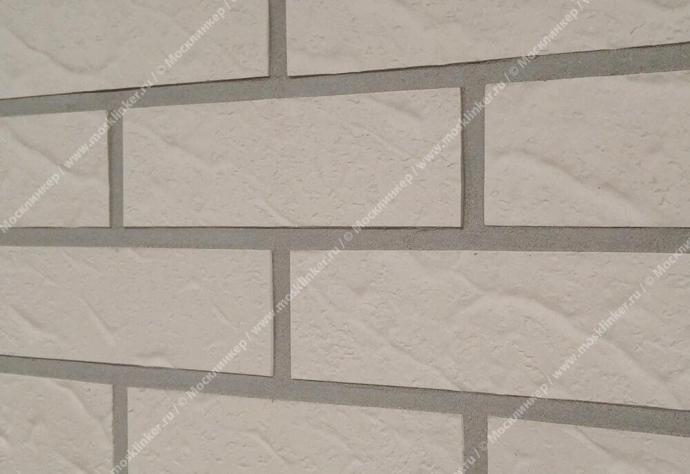 Roben - Island, Perlweiss, NF9, 240x9x71, рельефная - Клинкерная плитка для фасада и внутренней отделки