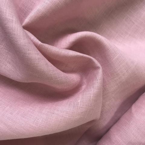 Мерный лоскут 0,9 м лен розовый 3287
