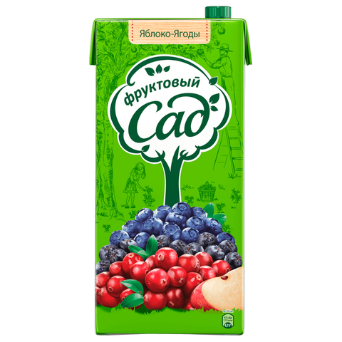 Сок фруктовый сад яблоко-ягоды МИНИМАРКЕТ