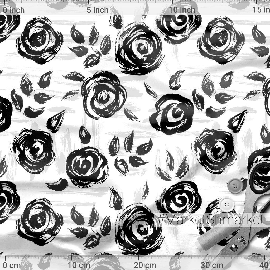 Розы мазками