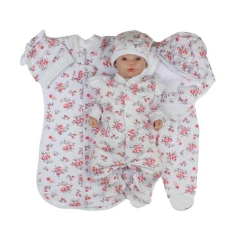 Набор одежды для новорожденной девочки в роддом Розы белый
