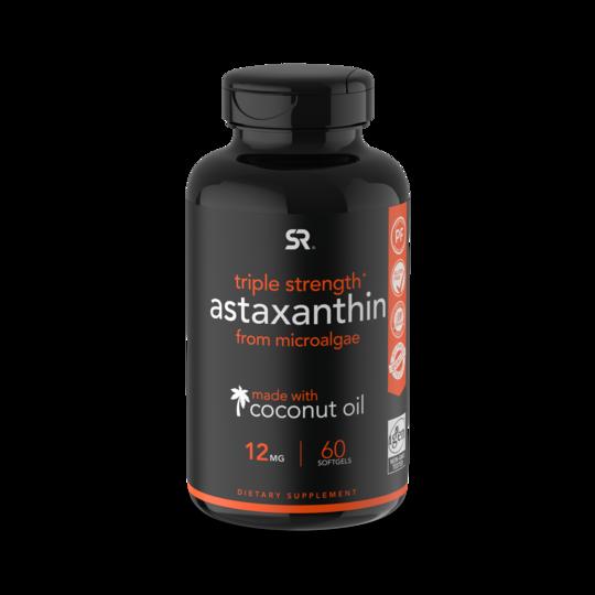 Астаксантин из микроводорослей, Astaxanthin, Sports Research, 6 мг (120 капсул)
