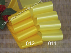 Лента атласная однотонная желтая - 011