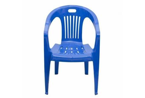 Кресло пластиковое синее