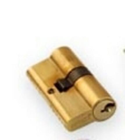 Цилиндрический механизм (личинка) R600/90mm ВВР латунь(35+10+45 или 40*45 )кл./кл. перфокарта