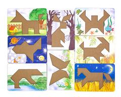 Большой набор головоломки Танграм