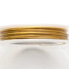 Тросик ювелирный 0,45 мм (цвет - темное золото) примерно 10 метров