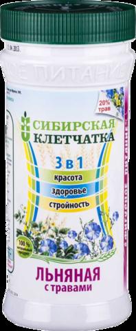 Клетчатка СИБИРСКАЯ КЛЕТЧАТКА Льняная с травами, 280 г