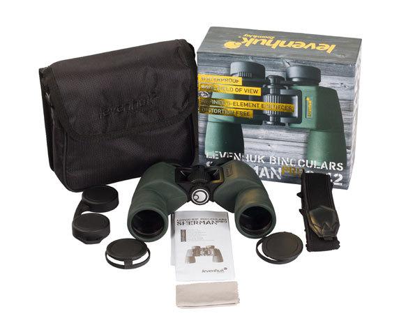 Бинокль Sherman Pro 8 42, крышки объективов и окуляров, ремень, чехол