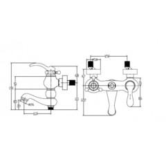 Смеситель KAISER Logo 47722-1 Bronze для ванны схема