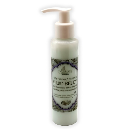 Гель-пенка для умывания лица и снятия макияжа Fluid beldy с муцином улитки для нормальной, сухой, гиперчувствительной кожи Шоконат