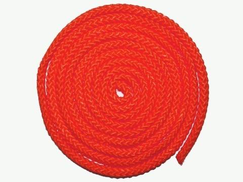 Скакалка гимнастическая, цветная ткань. Длина 3 метра. Цвет красный. :(АВ251):