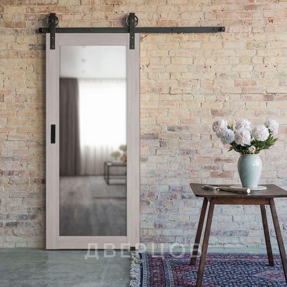 Системы открывания Межкомнатная амбарная раздвижная дверь Лофт экошпон VFD 32X stone oak с зеркалом с одной стороны il-atum-pro-x32-stone-mirror.jpg