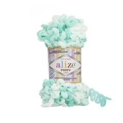 Пряжа Alize Puffy Color цвет 6343