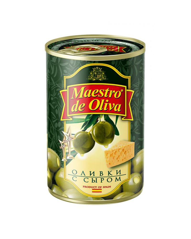 Оливки Maestro de Oliva с сыром 300 гр.