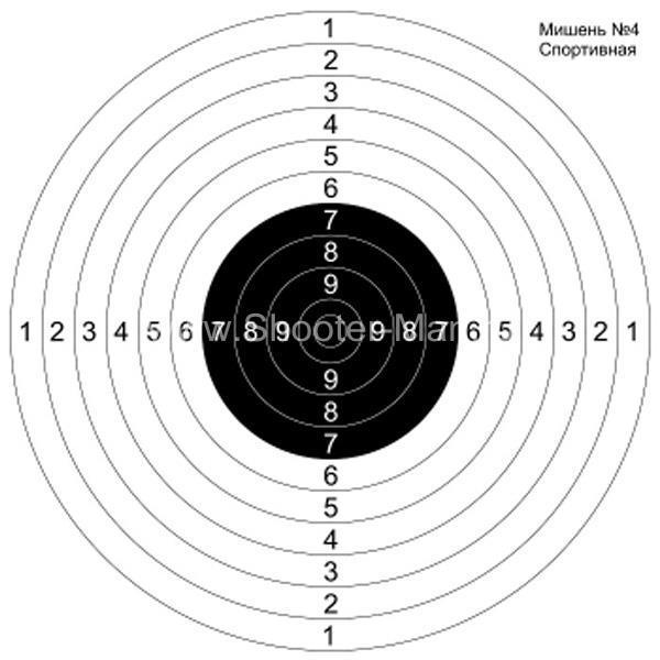 Мишень №4 для пристрелки ружей спортивная Нева Таргет