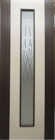 Дверь Кристалл-1 ДО (дуб мореный, остекленная шпонированная), фабрика Румакс