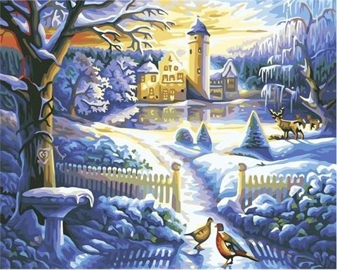 Алмазная Мозаика 30x40 Зимнее настроение