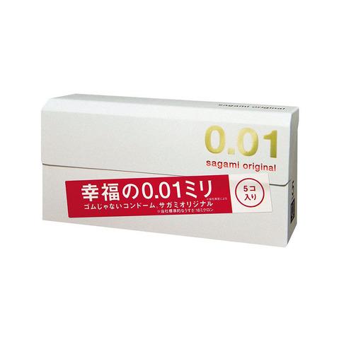 Sagami 0,01 мм №5 Презервативы полиуретановые супертонкие